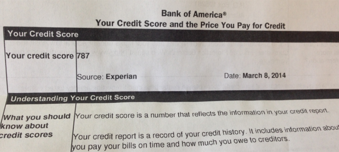 Credit Score: An Update