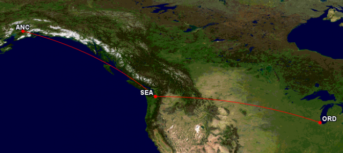 Using Korean Air to Fly From Chicago to Anchorage