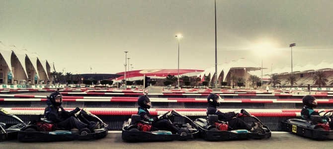 Karting at Yas Marina Kartzone in Abu Dhabi