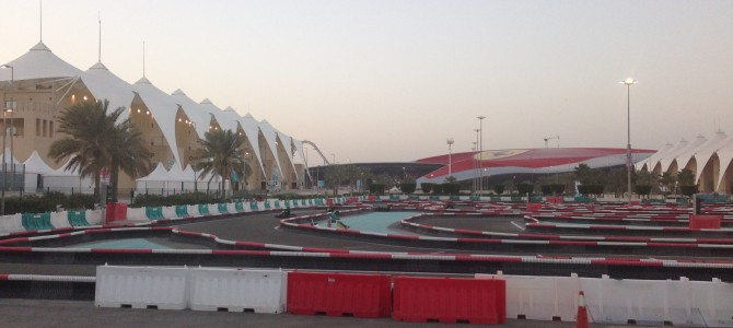 Karting Abu Dhabi UAE: Revisiting Yas Kartzone at Yas Marina at Night