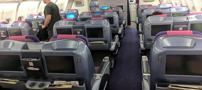 Thai Airways TG250 A330 Business Class Flight Review: Krabi to Bangkok KBV to BKK