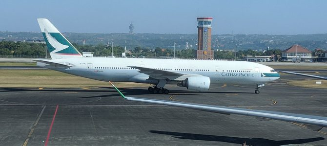 Cathay Pacific CX784 772 Business Class Flight Review: Denpasar to Hong Kong DPS to HKG